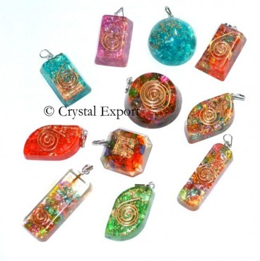 Mix shape chakra orgone pendants from orgone energy products mozeypictures Images