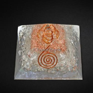 Crystal Quartz Power Healing Pyramids
